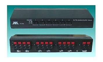 TCC TC-616 - Selector estéreo para amplificadores y altavoces