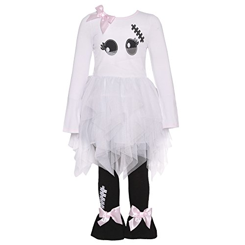 School Girl Outfit Halloween (Bonnie Jean White Sweet Mummy Legging Set)