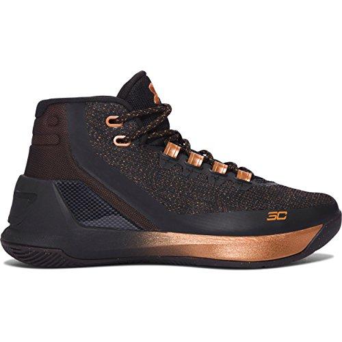 Footwear Curry (Under Armour Grade School UA Curry 3 ASW Basketball Shoe (6 M US Big Kid, Black/Silver/Copper))