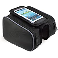 "Lista Cycling Bike Frame Saddle Bag Tube Pannier Pouch for M 4.8""/L 5.5"" Or Less Inc Smartphones/Cellphone Mobiles Bicycle Accessories"