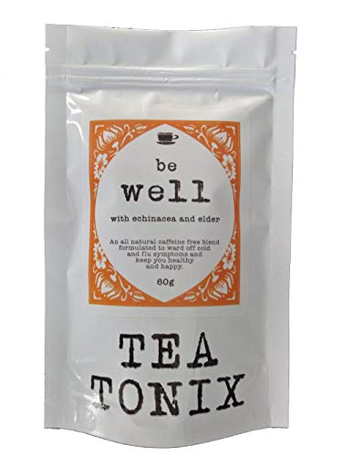 - BE Well Cold and Flu Tea with Echinacea, Elder, Ginger, and Goldenseal 60g - to Help Boost Immunity and Get You Through The Cold Season by Tea Tonix