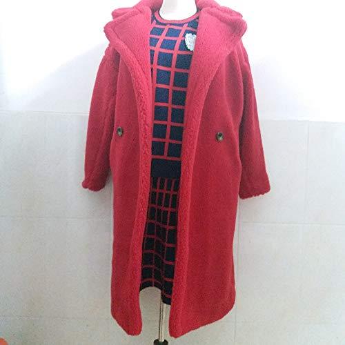 Xl Vêtements D'hiver Noir Zjewh Oversize vent Pour Rouge Brun Rouge L Rose Manteau Long Coupe qSWwWTxpg1