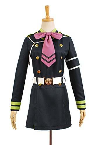 Shinoa Hiragi Costume (Costhat Halloween Costume Dress Shinoa Hiragi Uniform Dress Outfit Suit Cosplay Costume)