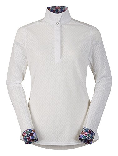 Kerrits Tailor Stretch Show Shirt White Size: Extra Large (Shirt Riding Stretch)