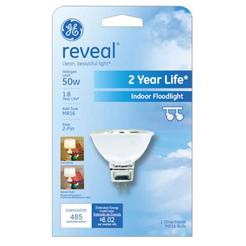 (GE Lighting 82110 50-Watt Reveal with Halogen Floodlight MR16 Light Bulb)