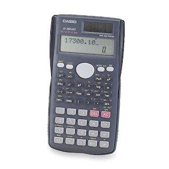 Cole-Parmer CSO-FX-300MS Scientific Calculator, Solar and Battery Powered, Two-Line Display