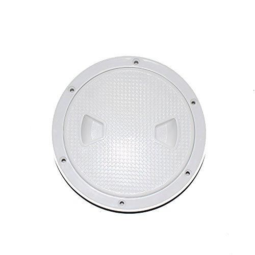 Floor Access Hatch - X-Haibei Round Boat Marine Inspection Hatch Deck Plate Access RV Plastic White (Dia. 6inch)