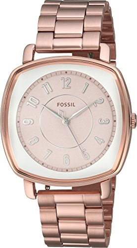 Fossil Women's ES4195 Idealist Three-Hand Rose Gold-Tone Stainless Steel Watch