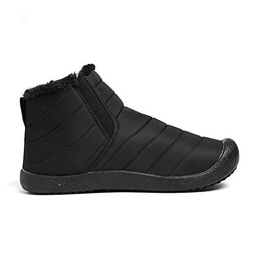 Men's Black Waterproof Lined Shoes Fur Slip Boots Anti High Fully Snow Top Warm Winter high Women Top Outdoor JOKIHA aPWqxIda