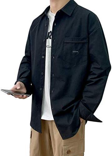 シャツ メンズ 長袖 オックスフォード ボタンダウンシャツ カジュアル 大きいサイズ 無地 コットン 春 秋 冬