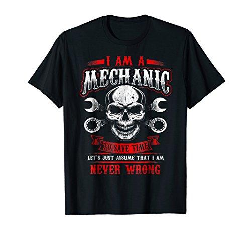 (Mens I'm A Mechanic Funny Grease Monkey T-Shirt Medium Black)