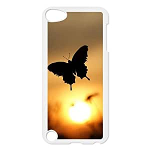 Butterfly in Glowing Sunset Customized Case for Ipod Touch 5, New Printed Butterfly in Glowing Sunset Case