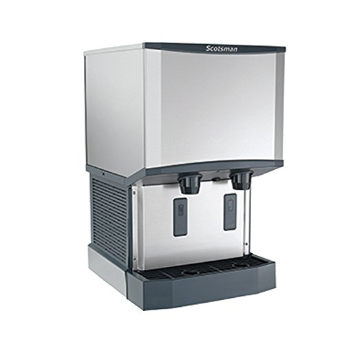 - Scotsman HID525A-6 Air Cooled Countertop Nugget Ice Machine & Water Dispenser (up to 500 lbs per 24 hrs/25 lb bin storage) 230V/50/1
