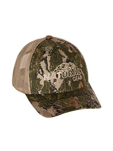 Natural Gear Camo mesh SC2, Camo Trucker Hat, Baseball Hat, Unisex Cotton Hat, Hunting Cap, Baseball Cap for Men (Hat Gear Natural)