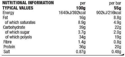 12 Protein Riegel Sis 20 Grammi Protein x 55 g Gusto Schokolade und Arachidi