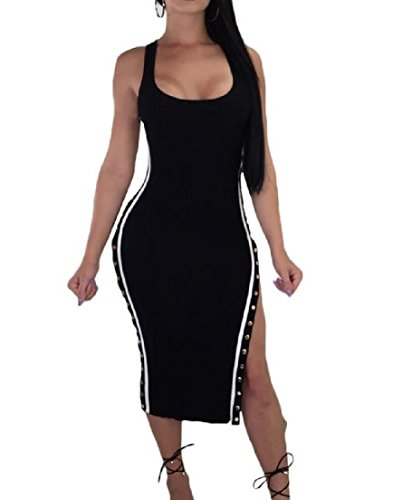 - Vska Women's Work Popover Crepe Swing Trendy Cocktail Party Midi Dress Black M
