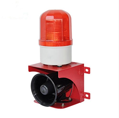 110db DC12V Small Acousto-optic Alarm System Wall-mounted Siren (DC24V) by YJINGRUI