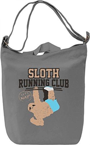 Sloth Running Club Borsa Giornaliera Canvas Canvas Day Bag| 100% Premium Cotton Canvas| DTG Printing|