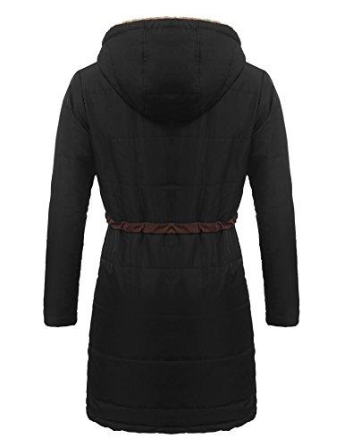 para Abrigo Abrigo Mujer Mujer Negro Soteer Soteer Negro para para para Abrigo Soteer Soteer Mujer Abrigo Negro qwOtBXf