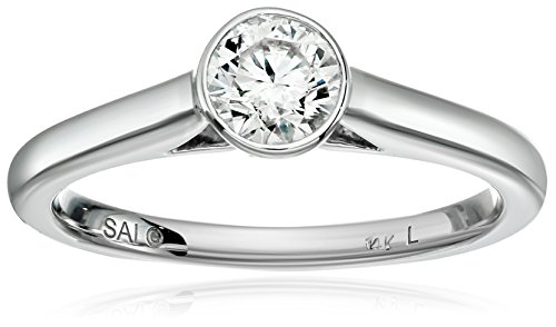 14k-White-Gold-Diamond-Engagement-Bezel-Engagement-Ring-34carat-H-I-Color-I1-I2-Clarity-Size-7