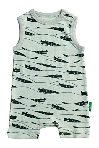 Parade Organics Tank Rompers Green Crocodiles ()