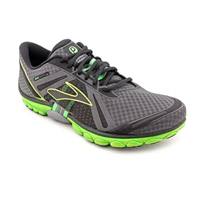 Brooks Mens PureCadence Running Shoes Color: Anthracite/Blk/LmGrn/Pvmt Size: 10.0
