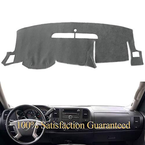 Yiz Dash Cover Mat Custom Fit for Chevy Chevrolet Silverado 1500 LT/WT 2007-2013 2500 HD / 3500 HD 2007-2013, GMC Sierra 2008-2013 .Dashboard Cover Pad Carpet (07-13 Gray) Y74