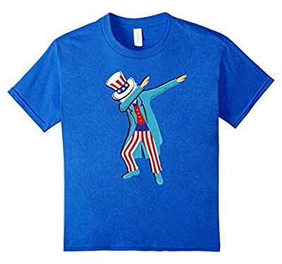 Dabbing Uncle Sam Shirt Funny 4th of July Fathers Day