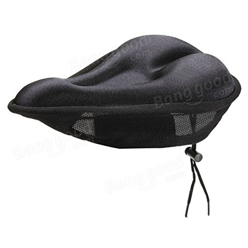 Bike Bicycle Silicone Soft Gel Saddle Seat Cover Cushion Pad Black by Freelance Shop SportingGoods (Image #1)