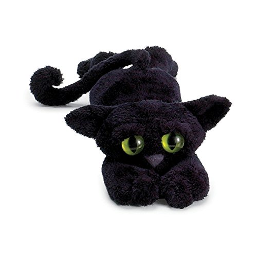 Manhattan Toy Lanky Cats Ziggy Black Cat Stuffed Animal]()