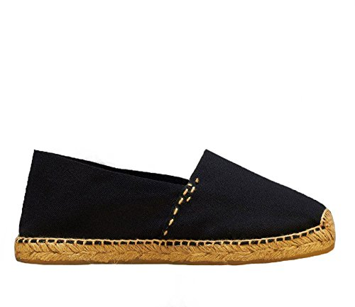 Espadrilles Hand Spain Women's Men's DIEGOS Thread Jute Black in Made 1pqvxxw
