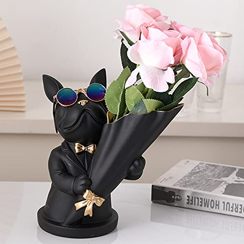 Modern Style Gold Decorative Ornaments Small Animal Statues Home Decor for Living Room, Bedroom, Office, Desktop (Black)