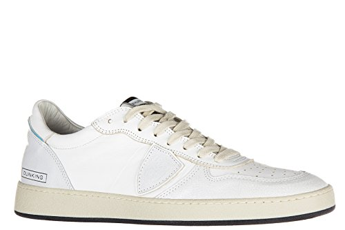 Philippe Model chaussures baskets sneakers homme en cuir lakers blanc