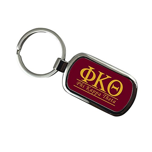Phi Key Ring (Phi Kappa Theta Chrome Custom Keychain)