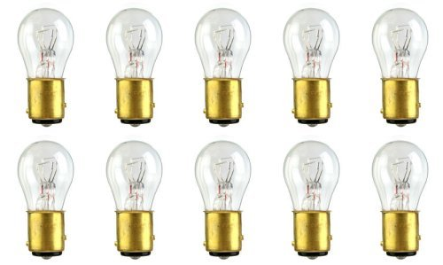 CEC Industries #2357LL Long Life Bulbs, 12.8/14 V, 28.16/8.26 W, BAY15d Base, S-8 shape (Box of 10)