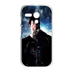 Batman Superman Mashup Motorola G Cell Phone Case White phone component RT_352398