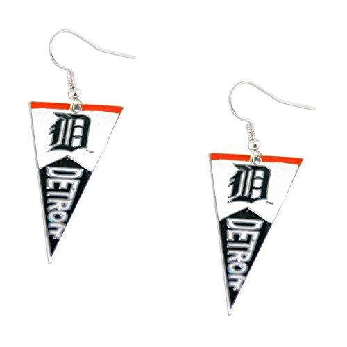 MLB Detroit Tigers Pennant Earrings -