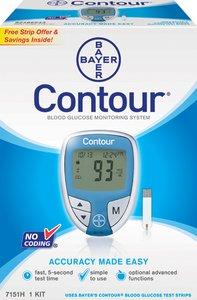 amazon com contour blood glucose meter bayer diabetes 7151 rh amazon com Medtronic Contour Link Bayer Contour Link