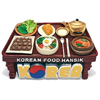 KOREAN Fridge Magnet 3D Souvinir SEOUL BUSAN JEJU Handmade Craft Gift Refrigerator Resin Magnets Rubber Epoxy Magnetic for Decoration