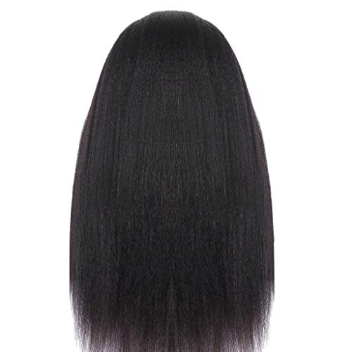 Long Straight Synthetic Wig for Women Women's Fashion Front lace Wig Black Synthetic Hair Wigs Wave Wig for Cosplay for Party Cosplay Wig Party&Daily Use]()