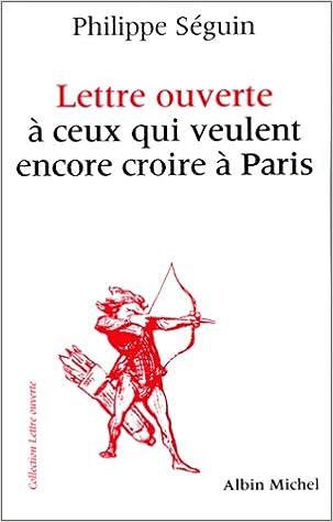 Livres Lettre ouverte à ceux qui veulent encore croire à Paris epub, pdf
