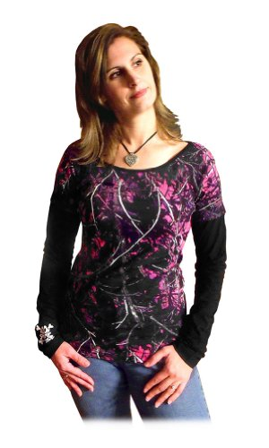 Moon Shine Attitude Attire Muddy Girl Camo Sleeve Black Long Sleeve - X-Small, Multicoloured
