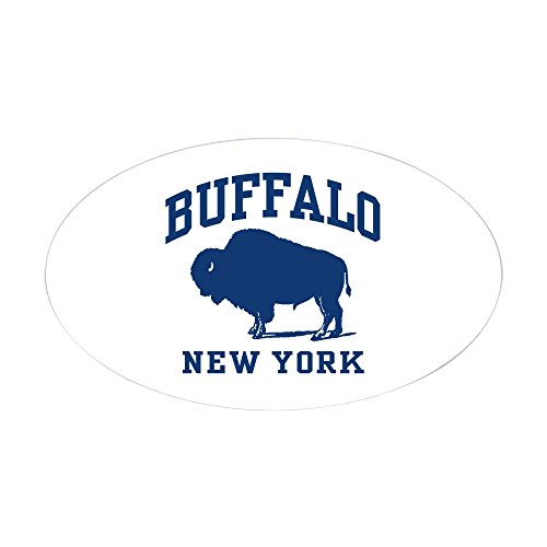 CafePress Buffalo New York Oval Sticker Oval Bumper Sticker, Euro Oval Car Decal