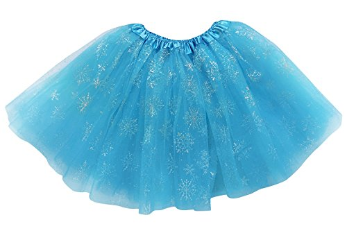So Sydney Adult, Plus, Kids Size SUPERHERO TUTU SKIRT Halloween Costume Dress Up (L (Adult Size), Royal Blue Snowflakes (Ice Queen)) - Womens The Ice Queen Costumes