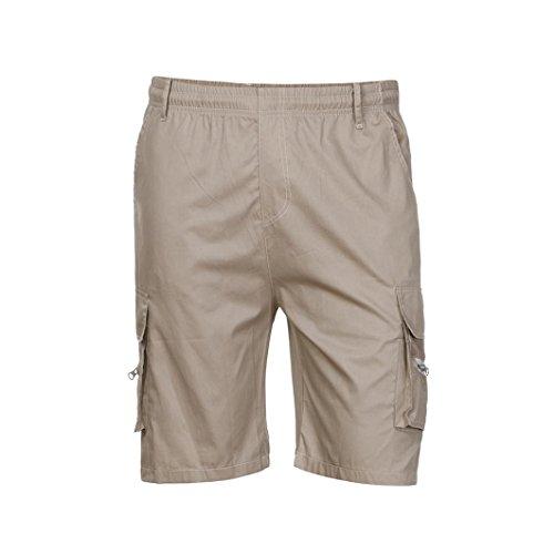 Combat Cargo Shorts - PASATO 2018 Summer New Classic Men's Shorts Sports Work Casual Army Combat Cargo Shorts Pants Trousers(Khaki, L)