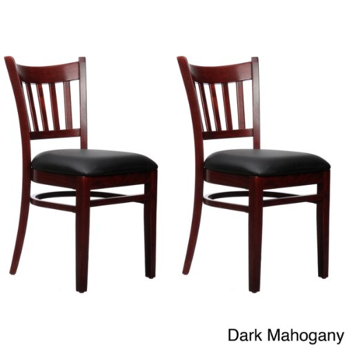 Beechwood Mountain BSD-4S-DM Solid Beech Wood Side Chairs in Dark Mahogany for Kitchen and dining, set of 2 ()
