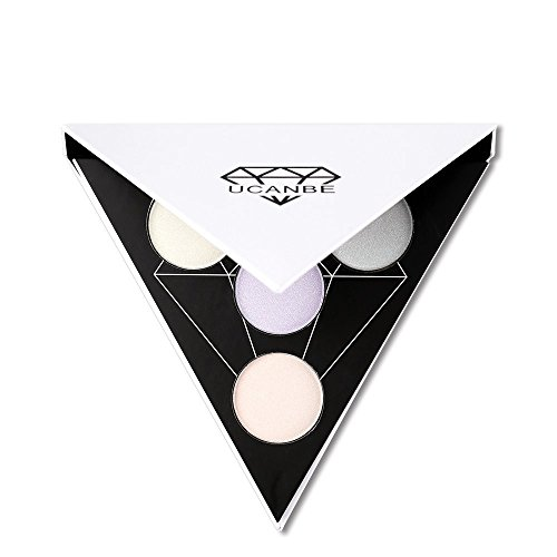 Triangle Highlighter Illuminating Contour Makeup Powder Palette Glow Kit (# 1)