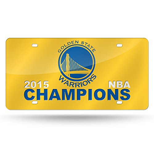 Rico Golden State Warriors Official NBA 12 inch x 6 inch 2015 NBA Finals Champions Laser Cut License Plate by 886981