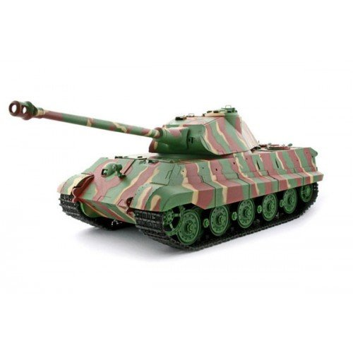 Heng Long 2.4Ghz 1/16 Scale Radio Remote Control German Porsche Turret KingTiger Tank Air Soft RC Battle Tank Smoke & Sound