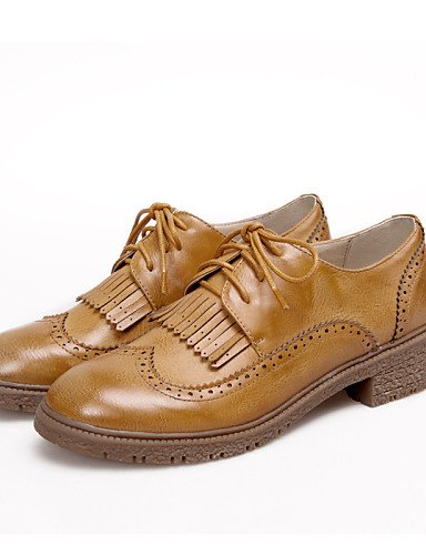 Décontracté Travail Gros Chaussures Bureau Noir Habillé 5 Eu36 Fermé Cn35 5 amp; bout Bordeaux Yellow us5 Femme Njx Talon De Bride Marron Uk3 Jaune xqIPEdwYY